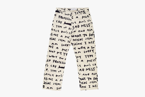 40'S PANTS SAD NOTES - Ivory SP20