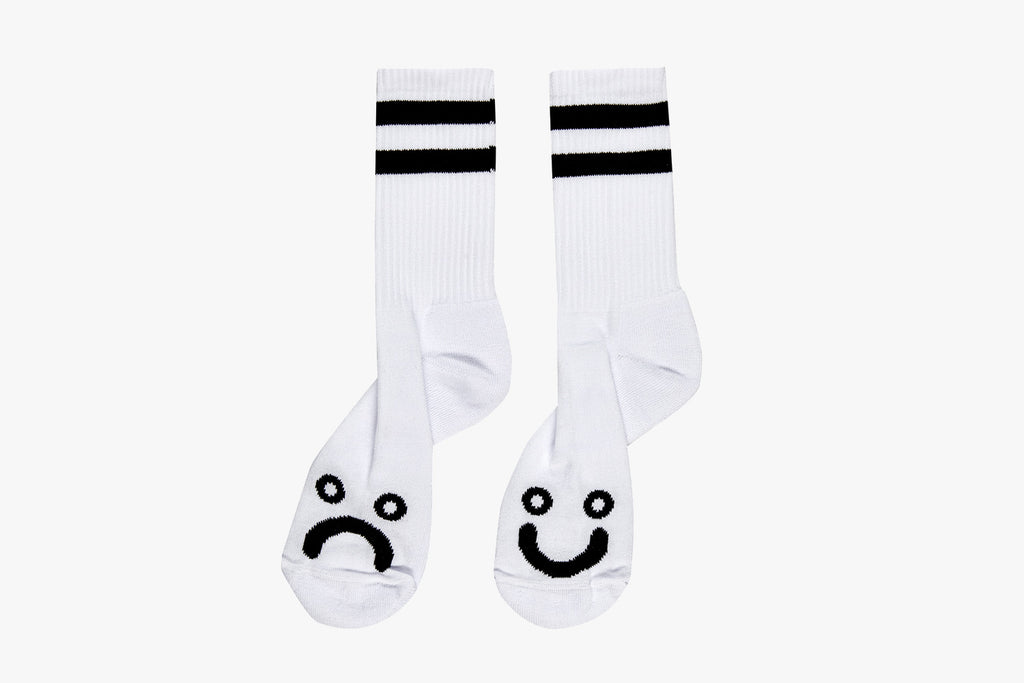 HAPPY SAD SOCKS - White SP20
