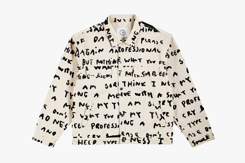 JEAN JACKET SAD NOTES - Ivory SP20