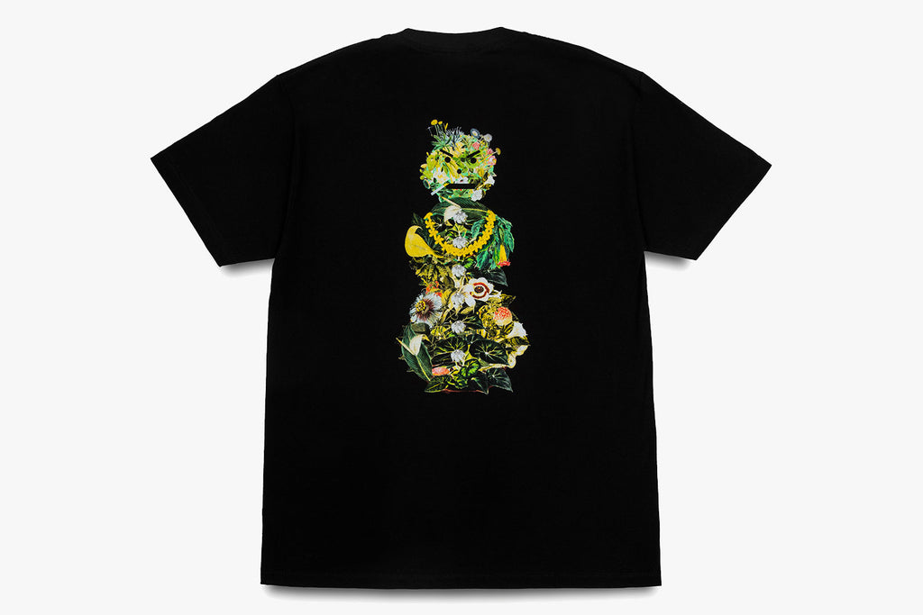 BOTANICAL SNACKMAN TEE - Black