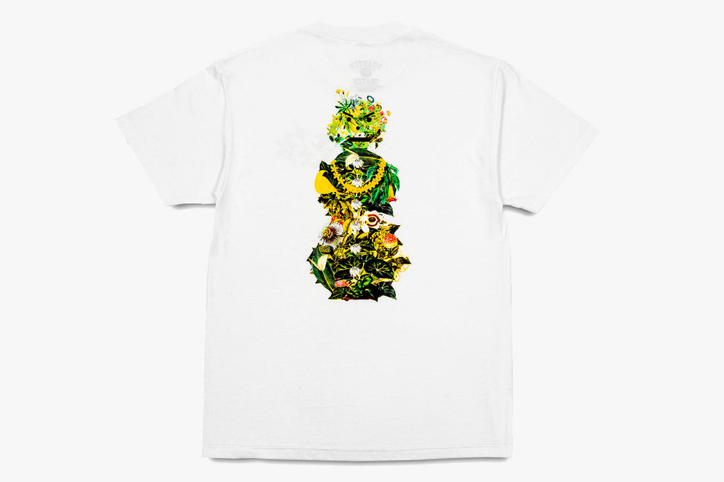 BOTANICAL SNACKMAN TEE - White