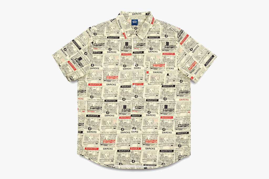 VENDOR SHORT SLEEVE BUTTON UP - Butter