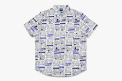 VENDOR SHORT SLEEVE BUTTON UP - White