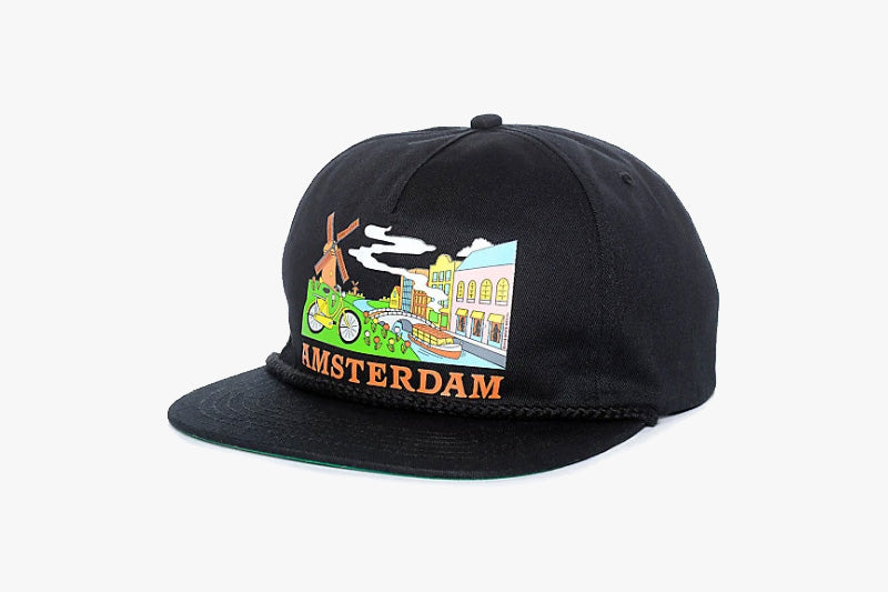 AMSTERDAM TOURIST SNAPBACK - Black Canvas