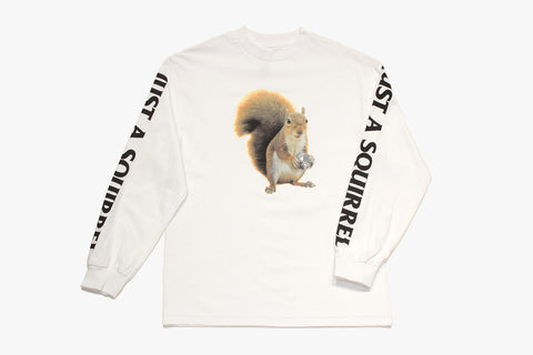SQUIRREL LONG SLEEVE - White