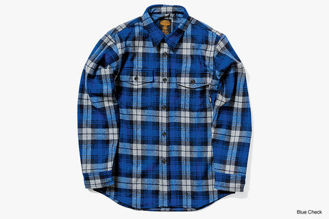 WOOL FLANNEL SHIRT 2020/2021 - Blue Check