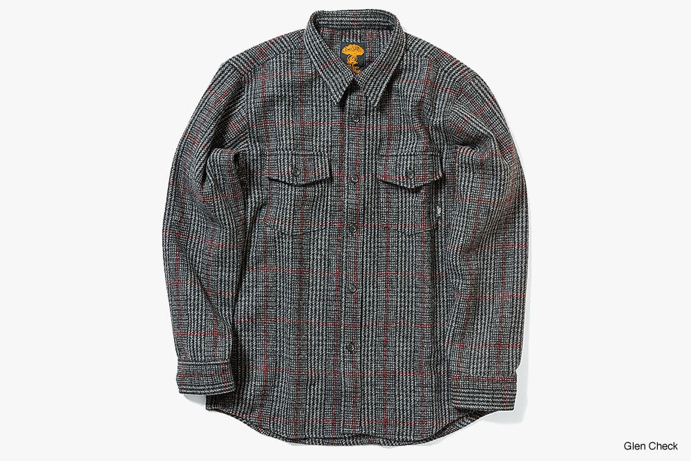 WOOL FLANNEL SHIRT 2020/2021 - Glen Check