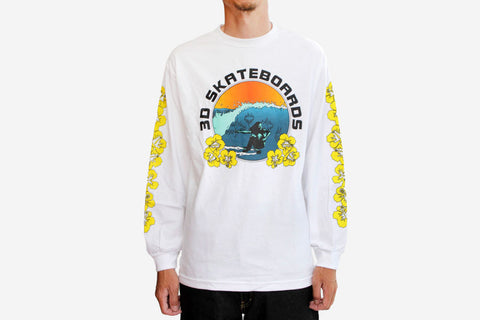 HAWAIIAN LONG SLEEVE TEE - White
