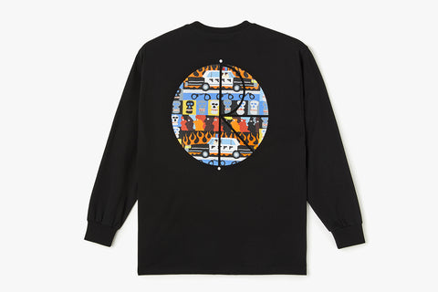 ACAB FILL LOGO LONGSLEEVE - Black WIN20