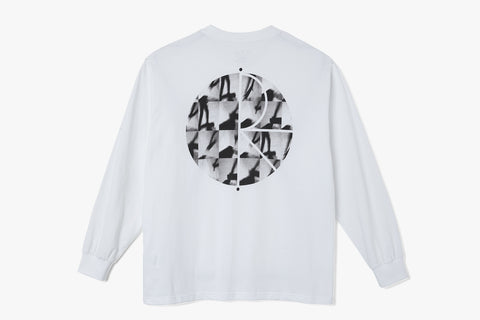 SEQUENCE FILL LOGO LONGSLEEVE - White SP21