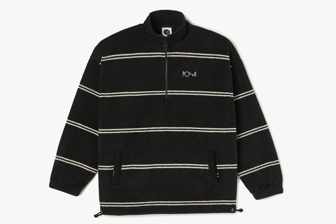 STRIPE FLEECE PULLOVER 2.0 - Black WIN20