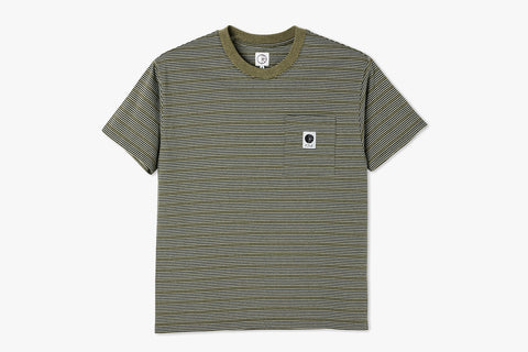 STRIPE POCKET TEE - Army Green SP21