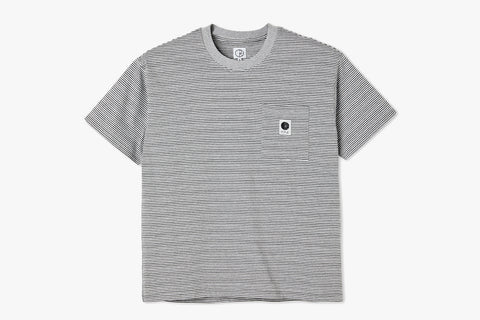 STRIPE POCKET TEE - Grey SP21