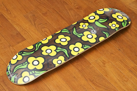 "TEAM WILD STYLE FLOWERS BROWN - 7.75"" x 31.25"""