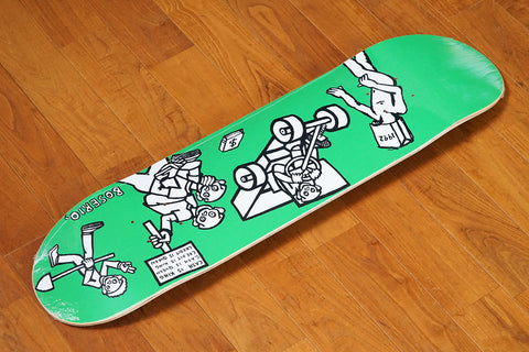 "NICK BOSERIO / CASH IS QUEEN GREEN - 7.875"" x 31.625"""