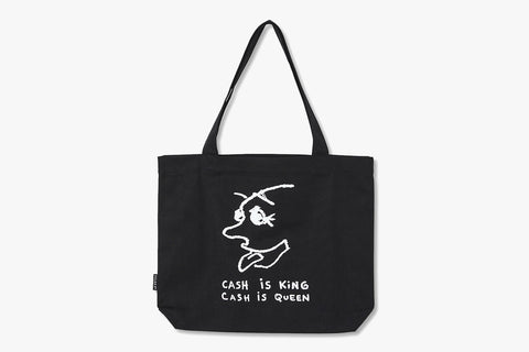 CASH IS QUEEN TOTE BAG - Black FA20