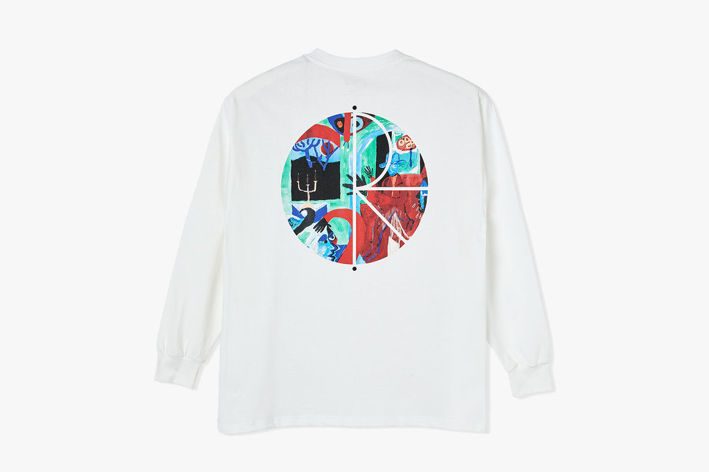 MOTH HOUSE FILL LOGO LONGSLEEVE - White FA20