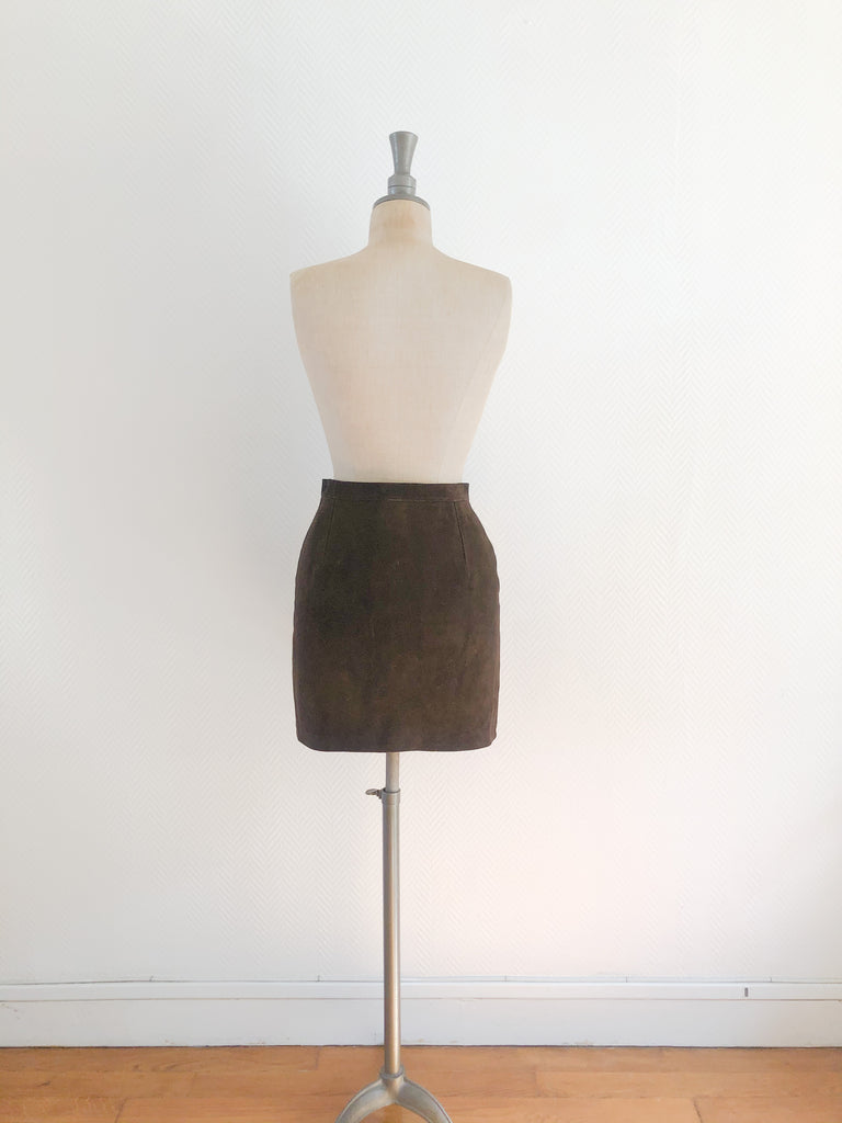 Mini Suede Wrap Skirt