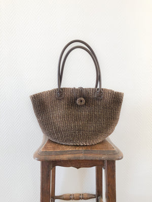 Load image into Gallery viewer, Straw Basket Bag