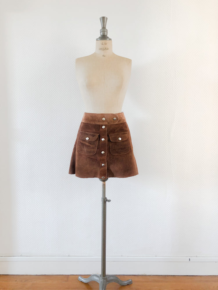 70s Suede Pocket Skirt | SOLD OUT