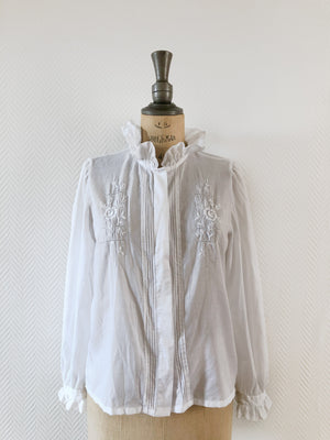 Load image into Gallery viewer, Vintage Frill Blouse