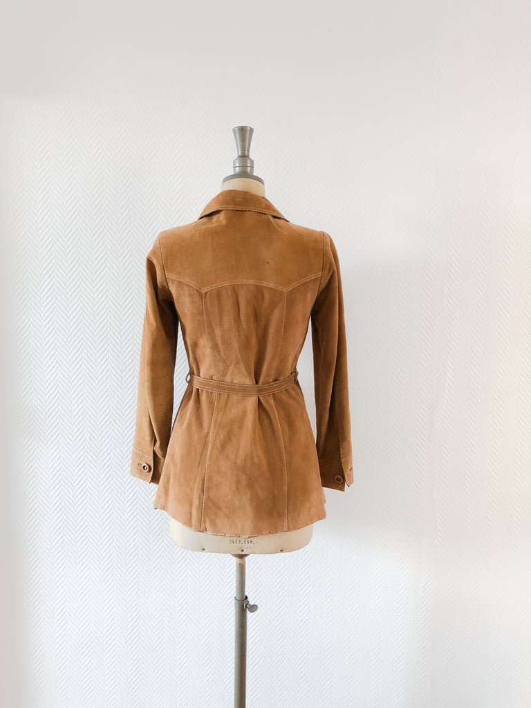 70s Belted Suede Jacket