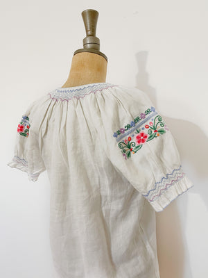 Hungarian Embroidered Blouse