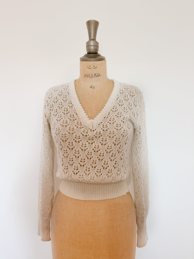 Wool Eyelet Sweater | SOLD OUT