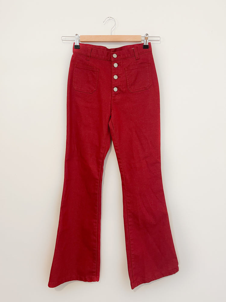 Red Pocket Jeans