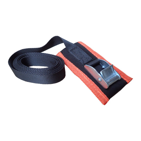 Tie downs 3m with orange cam protector (pair)