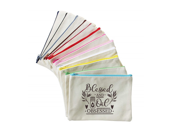 Blessed and Oil Obsessed | Zippered Pouch