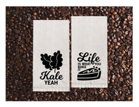 Flour Sack Towels | Kale Yeah + Life is what you bake it