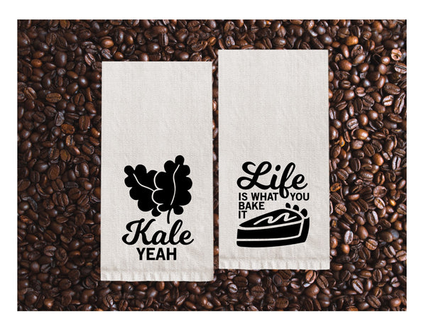 Copy of Flour Sack Towels | Kale Yeah + Life is what you bake it
