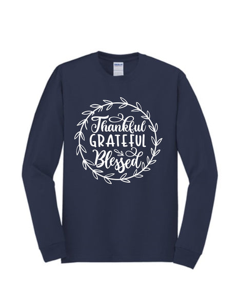 Thankful Grateful Blessed (Circle) | Long Sleeve
