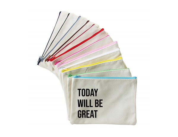 Today Will Be Great | Zippered Pouch