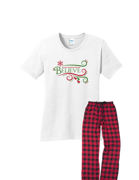 Believe Christmas PJs | Adult
