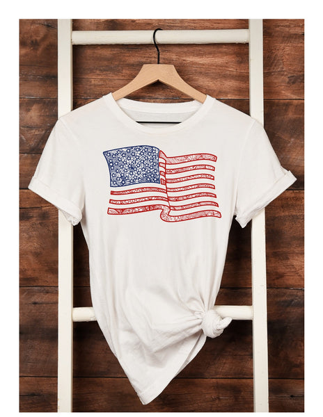 Shirt of the Week! Zentangle USA Flag