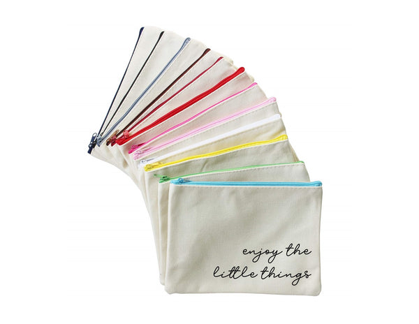 Enjoy the Little Things | Zippered Pouch