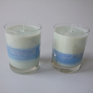 Ocean- Etched Seashell Glass Candle