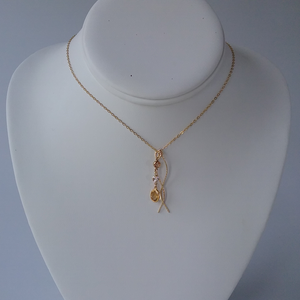 Gold Necklace with Topaz