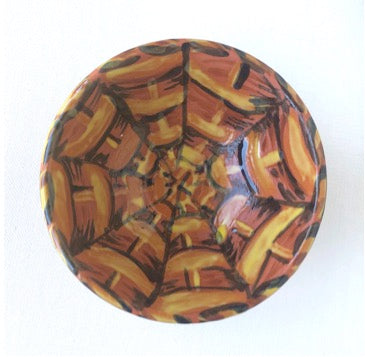 Basketweave Earthenware Bowl