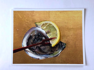 Post Card by Joan Brady, Oyster on the half Shell