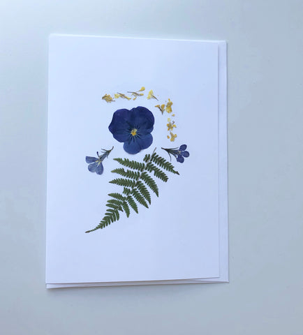 Pressed Flower Card Pansy Set