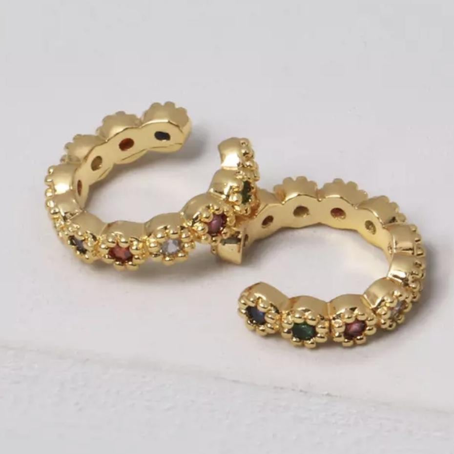 Pair of multi gold cuffs