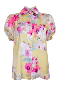 NEW Delilah top - Yellow floral