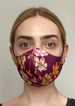 Load image into Gallery viewer, Olivia Face Covering - Burgundy floral