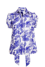 Load image into Gallery viewer, NEW Delilah top - Ivory/Blue floral