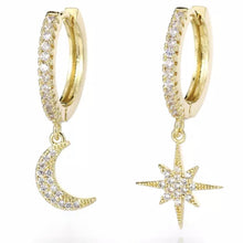 Load image into Gallery viewer, I love you to the moon and stars earrings