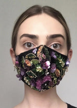 Load image into Gallery viewer, Couture Isabelle Face Covering - Fully embellished Black/Multi