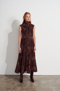 Cristabel Dress - Leopard print